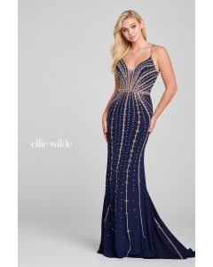 Ellie wilde - EW121051 - Navy/Rose Gold