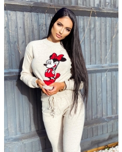 Minnie Mouse Knit Woven Cartoon Lounge Set